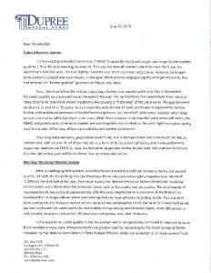 Dupree Shareholder Letter June 30, 2018